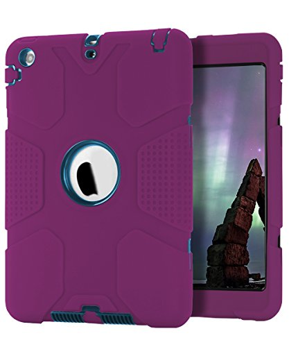 iPad Mini Case, iPad Mini 2 Case,iPad Mini 3 Case,TOPSKY [Robot Series] High Impact Defender Shockproof Case For iPad Mini/ iPad Mini 2/ iPad Mini 3, Pink - Teal (Robot Ipad Mini Case compare prices)