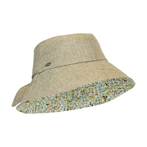 rim Lined Bucket Sun Hat w/Bow, Packable and Crushable, UPF 50+ (Fully Lined Bucket Hat)
