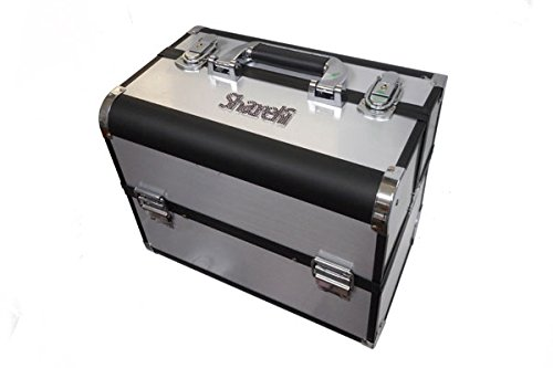 SHAREKI ラインストーンビーズ プロ用 デコリスト ボックス (シルバーXブラック) pbox_sb   B01447KBEE