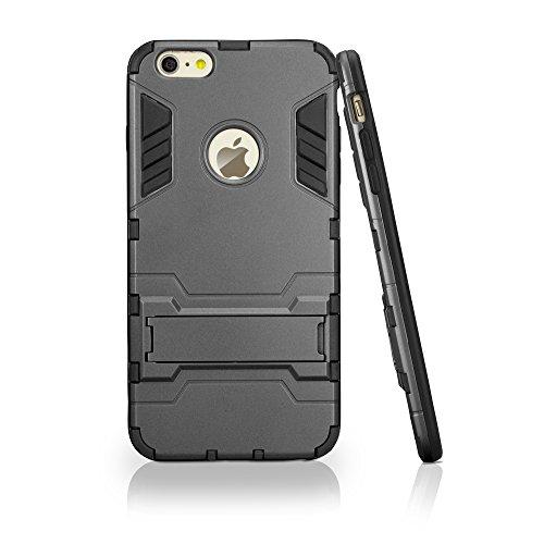 iPhone 6Cas, BoxWave® [Resolute MX Étui rigide] Armor Coque avec protection triple couche pour Apple iPhone 6–métallique gris