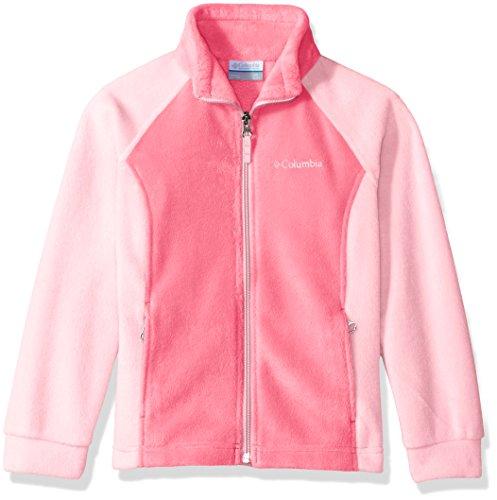 Cherry Jacket Girls - Columbia Big Girl's Benton Springs Fleece, Lollipop, Cherry Blossom, L