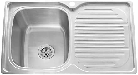 Naiture 32 Stainless Steel Rectangular Drop In Prep Sink With