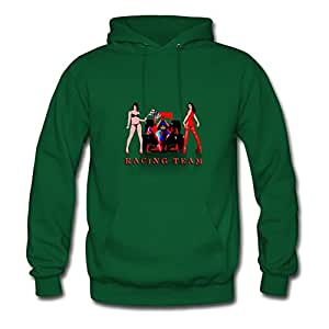 X-large Green O-neck Puzzle Racing_car_a Hoodies By Arturobuch - Women