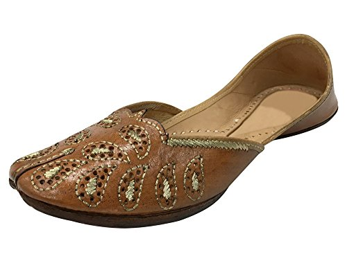 Step n Style Indian Khussa Shoes Slippers Sandals Punjabi Juti Mojri Ballerina Shoe - Indian Slippers