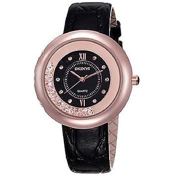 Relojes de hombre Mujer Reloj de Vestir Cuarzo 30 m La imitación de diamante Cuero Auténtico ...