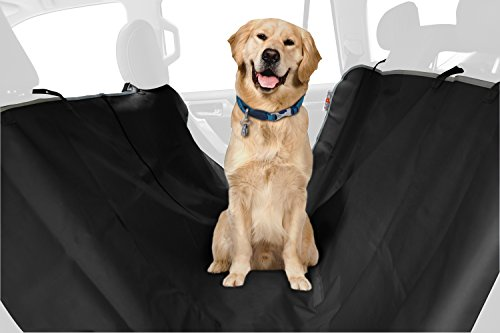 ASPCA Water Resistant Pet Car Seat Cover & Free Travel Bowl,