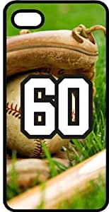 Baseball Sports Fan Player Number 60 Black Rubber Decorative iPhone 5c Case