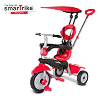 smarTrike Zoom Toddler Tricycle for 1,2,3 Year Olds - 4 in 1 Multi-Stage Trike