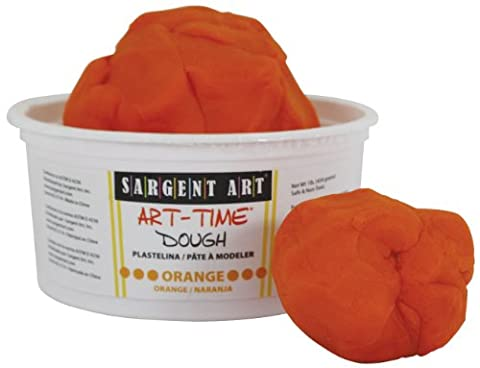 Sargent Art 85-3114 1-Pound Art-Time Dough, Orange (Playdoh People)