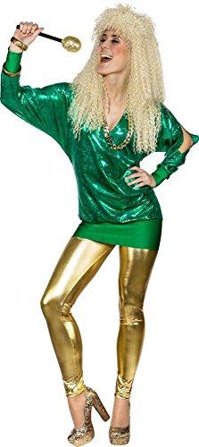 Damen Kostüm 90er Jahre Wickelshirt Karneval Fasching Party Gr.46/48
