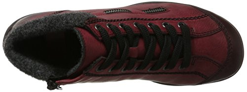 Anthrazit Hi Wine Trainers Rieker Red L6543 Top 35 Women's qTnF0wC