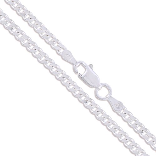 Sterling Silver Italian Curb Chain 2mm Solid 925 Italy 2 Sided New Necklace (Italian Sterling Silver Curb)