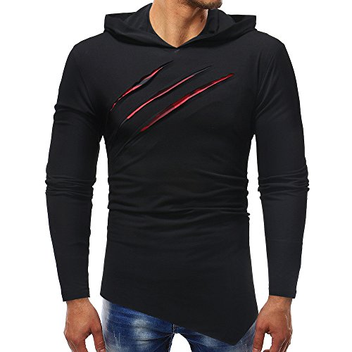 Simayixx Sweatshirts for Men Hoodie, Men's Fitness Gym Muscle Cut Stringer Bodybuilding Workout Long Sleeve Tops ()