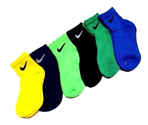 Nike Little Boy's Quarter Socks Size 6-7 /US Shoe Size 13C- 3Y (Nike Costumes Shoes)