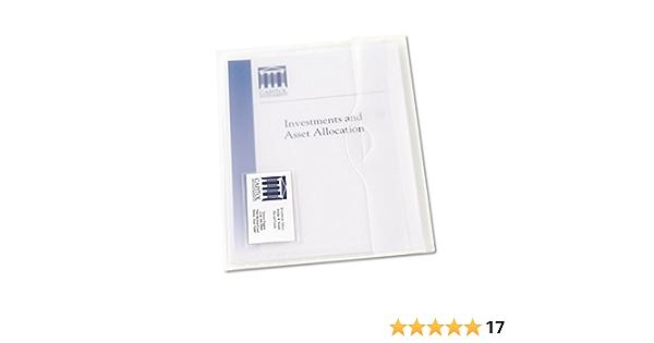 eco-eco A3 95/% Recycelt Klar Transparente Press Stud Wallets Packung mit 25