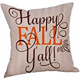AmyDong Clearance Happy Halloween Pillow Cases Linen Sofa Cushion Cover Home Decor (J)