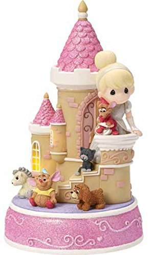 (Precious Moments Disney Showcase Collection Cinderella Castle Music Box LED Lights Resin 163106)