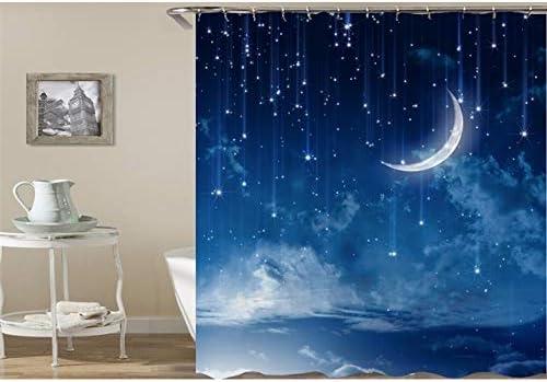 saknn-da Cortina de Ducha Cortinas de Ducha 3D impresión Creativa Paiting Galaxy patrón Cortinas para baño mamparas de baño a Prueba de Agua 200 cm x 180 cm: Amazon.es: Hogar