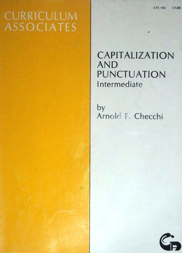 Capitalization and Punctuation: (Capitalization And Punctuation)
