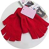 1Pair Women Men Soft Half Finger Gloves Winter Warmer Knitted Fingerless Unisex 6Colors