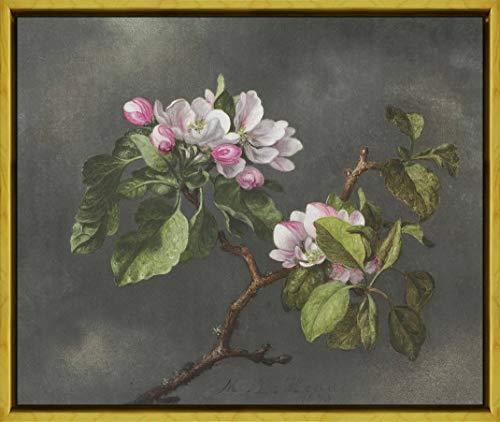 Berkin Arts Framed Martin Johnson Heade Giclee Canvas Print Paintings Poster Reproduction(Apple Blossoms)