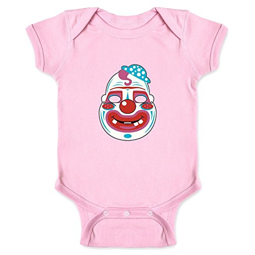 Pop Threads Scary Clown Mask Pink 12M Infant (Halloween City Clown Mask)