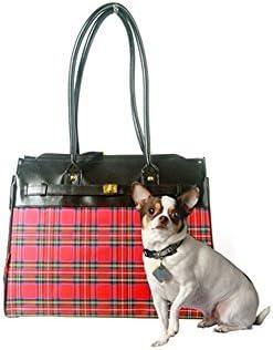 Bark-n-Bag 16 x 12.5 x 8 Tartan Collection Monaco Tote Pet Carrier, Small