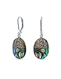 Bling Jewelry 925 Silver Celtic Tree of Life Gemstone Drop Leverback Earrings