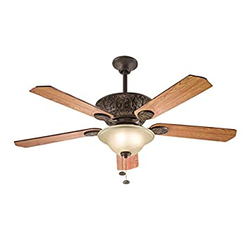 Kichler lighting traditional 52 inch tannery bronze ceiling fan w light