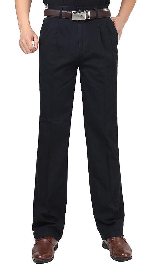 Mens Cropped Dress Pants Mens Straight Slim Fit Dress Pants
