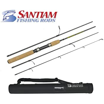"Santiam Fishing Rods Travel Rod 4 Piece 6'6"" 4-8LB Ultra-light Graphite Spinning Rod"