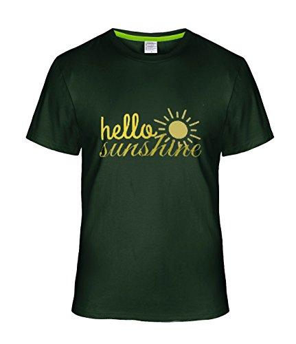 Fatal Decision Men's Hello Sunshine Funy T-shirt deepGreen