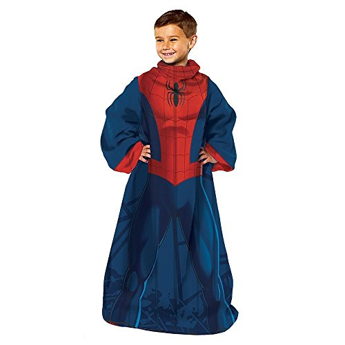 picture of Marvel Comics Ultimate Spiderman Spider Up Blanket with Sleeves Comfy Throw Youth Size