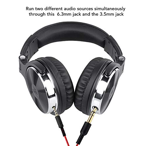 Large Product Image of OneOdio Adapter-Free Closed Back Over-Ear DJ Stereo Monitor Headphones, Professional Studio Monitor & Mixing, Telescopic Arms with Scale, Newest 50mm Neodymium Drivers- Glossy Finsh