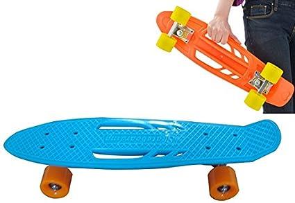 "22"" Portátil Y Manejable Estilo Penny Retro Cruiser Skateboard Skating Deck Boards Monopatín Skate ("