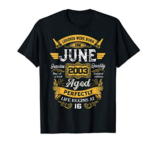 Legends Were Born In June 2003 16th Birthday Gift Shirt