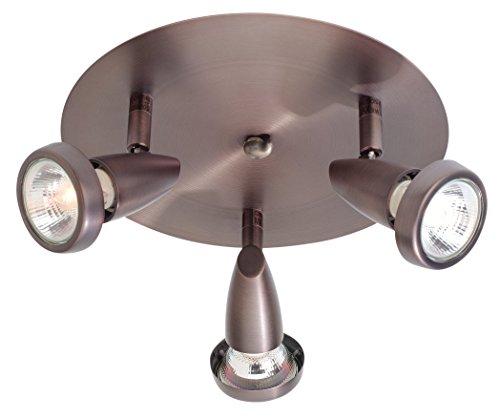 3 Light Spotlight Cluster - Mirage - 3-Light LED Cluster Spotlight - Bronze Finish