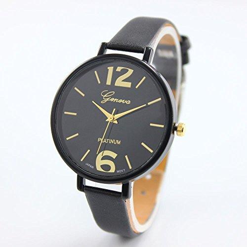 Women Bracelet Watch Geneva Famous brand Ladies Faux Leather Analog Quartz Wrist Watch Clock - Repair Oakley Parts