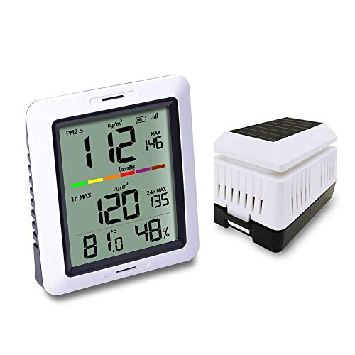 - ECOWITT WH0290 Air Quality Monitor Meter PM2.5 Detector Indoor Outdoor with Temperature and Humidity for Home Office Car