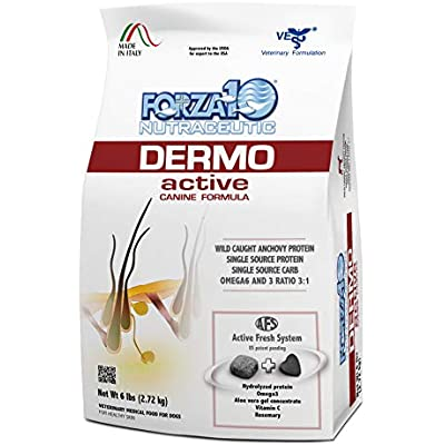 Forza10 Dermo Active Dry Dog Food, Sensitive Stomach and Skin Dog Food for Adult, Medium, Small and Mini Dog Breeds