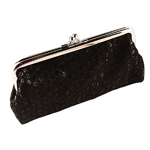 Purse Evening Clutch Wallet Wedding Hasp Sequins Party Black Handbag Kemilove Women qwYS0xt1c