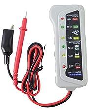Testador de bateria de carro ULTECHVO, ferramenta de diagnóstico automotiva, analisador de sistema de bateria automotiva, testador de carga de bateria para teste de condição de bateria automática, indicação de LED
