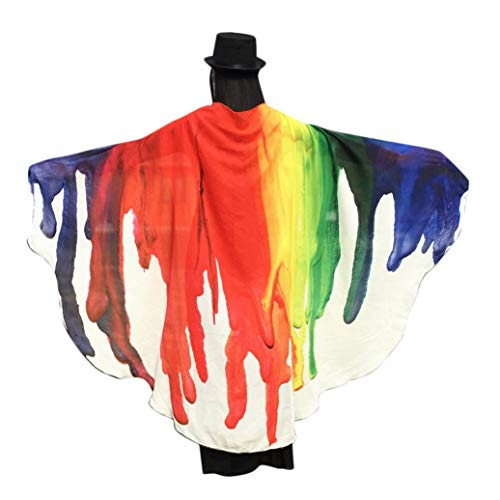 GOVOW Halloween Butterfly Wings for Girls Party Shawl Ladies Pixie Costume -