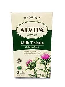 Alvita Tea Bags, Milk Thistle, 24 tea bags (Pack of 3)