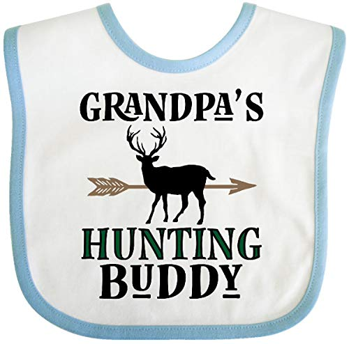(Inktastic - Bow Hunter Grandpa Hunting Buddy Baby Bib White/Blue 31ddb )
