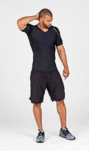 Alignmed Black Sport Top For Men