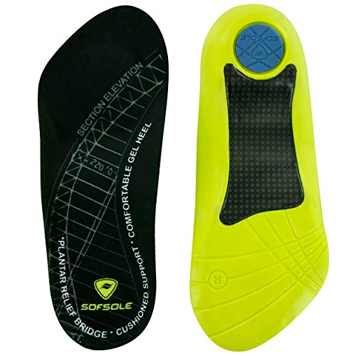 Sof Sole Insoles Women's PLANTAR FASCIA Support 3/4 Length Gel Shoe Insert, Women's ()