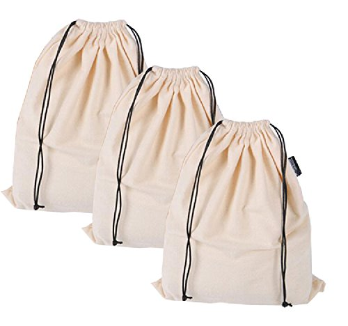 Misslo Set of 3 Cotton Breathable Dust-proof Drawstring Storage Pouch Bag -  Buy Online in Oman.   Apparel Products in Oman - See Prices, Reviews and  Free ... 0984625a5f