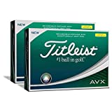 Titleist AVX Yellow Double Dozen with Black AlignXL