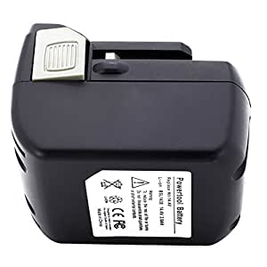 14.40V,3000mAh,Li-ion,Replacement Power Tools Battery for HITACHI FWH 14DSL, G 14DSL, NP14DSL, R14DSL, RB 14DSL, HITACHI C, D, UB, W Series, Compatible Part Numbers: BSL 1415, BSL 1430
